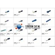 Assortiment met blauwe AMP connectoren