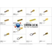 Assortiment met gele AMP connectoren