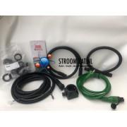 Aansluitset 220V Defa met stopcontact en Y-stuk & 0.5 + 1.0 Kabel