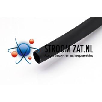 Krimpkous Zwart 9.5 - 4.8mm per 1 meter